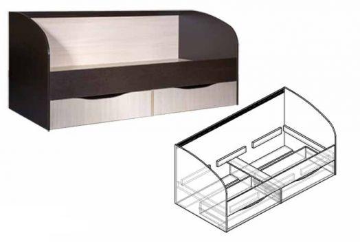 Кровать детская с ящиками Спайдер
