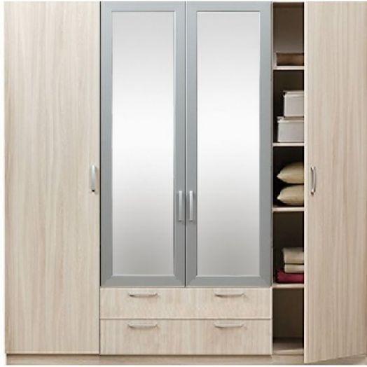 """Шкаф 4-дверный с зеркалом 5.15Z """"Эко"""" с зеркалом"""