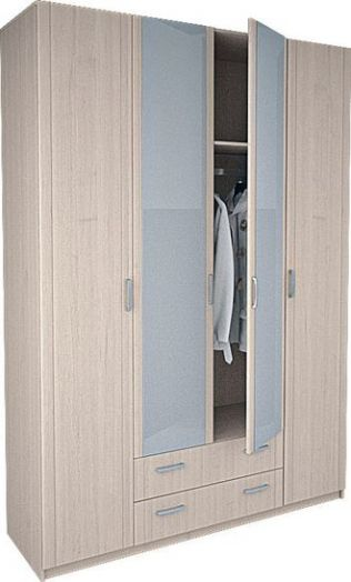 "Шкаф 4-х дверный 8.041 ""Лотос"" с зеркалом"