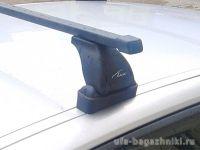 Багажник на крышу Renault Scenic 2 / Renault Grand Scenic, Lux, прямоугольные стальные дуги