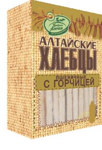 Хлебцы Алтайские Пшеничные с горчицей 75гр*16
