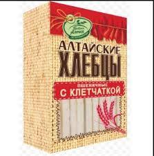 Хлебцы Алтайские Пшеничные с клетчаткой 75гр*16