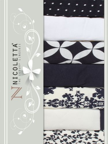 Трусы слипы, недельки женские Nicoletta S-XL / NTT13749