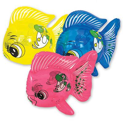 Игрушка надувная Рыбка 30см, 12 шт.