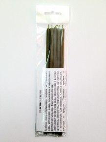 Свеча восковая #80 зеленая, 18 см, (уп. 5 шт.)