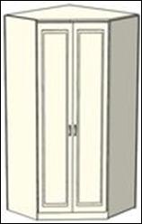 Шкаф-трапеция Ждана двухдверный,  модуль 50 (L 100-124 см)