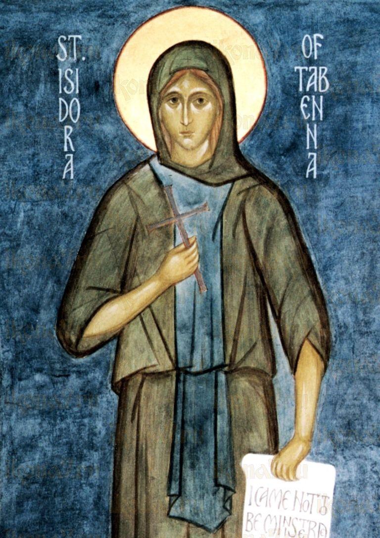 Икона Исидора Тавенская (копия старинной)