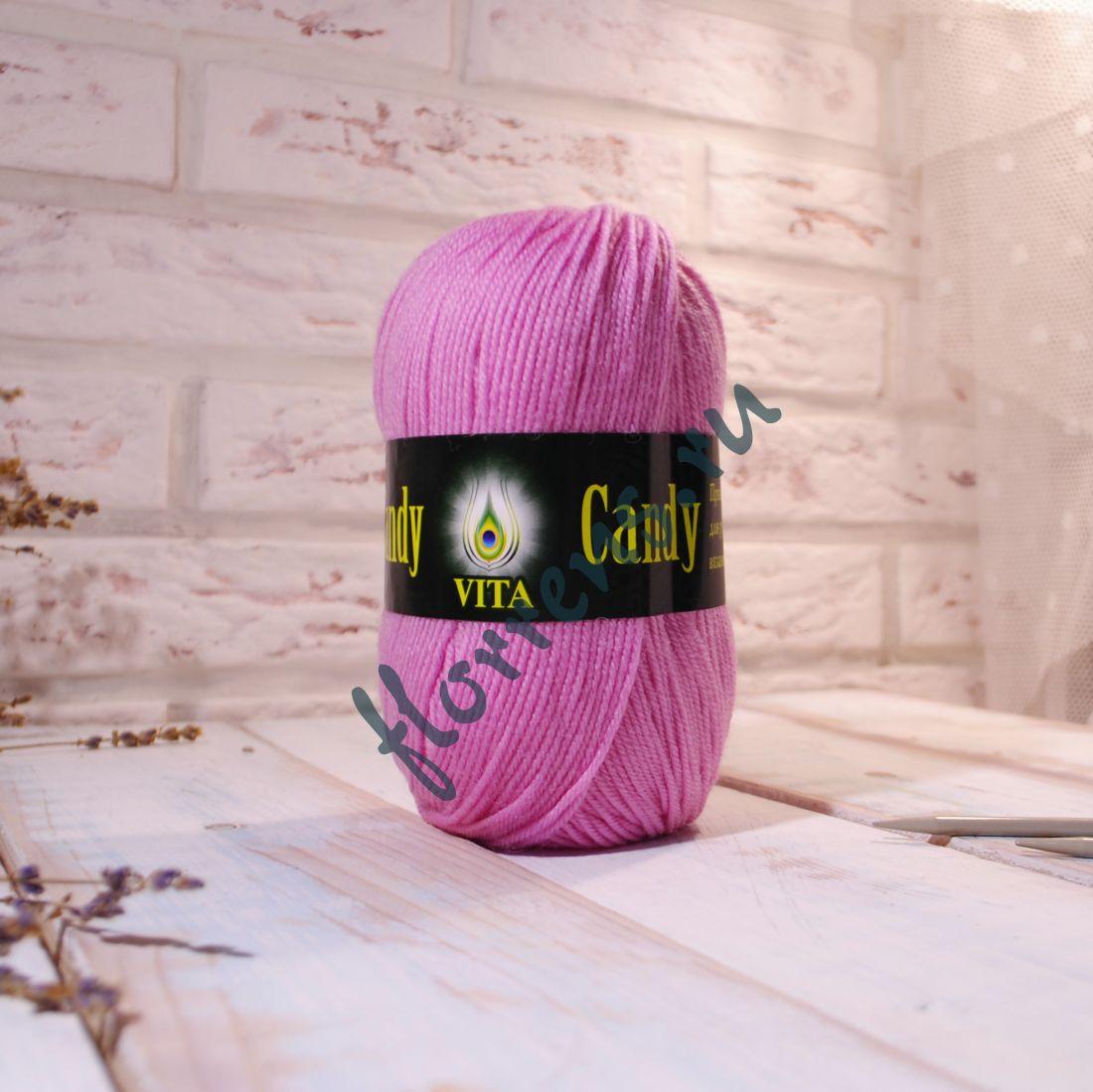 "Пряжа ""Vita"" Candy / 2516 нежно-розовый"