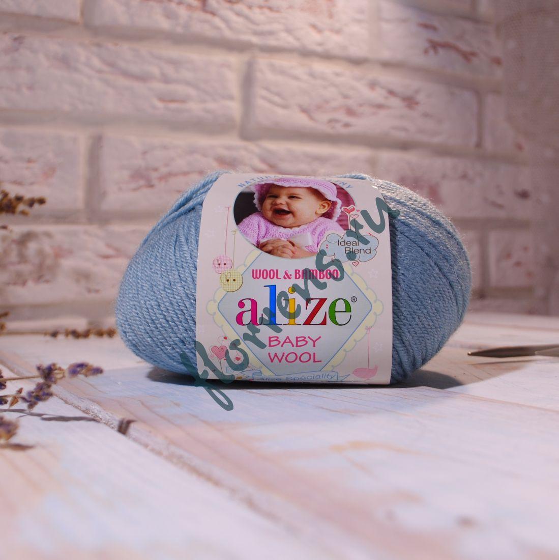 "Пряжа ""Alize"" Baby wool / 114 мятный"