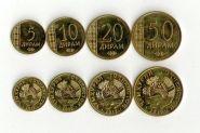 Таджикистан набор 4 монеты 2015 UNC