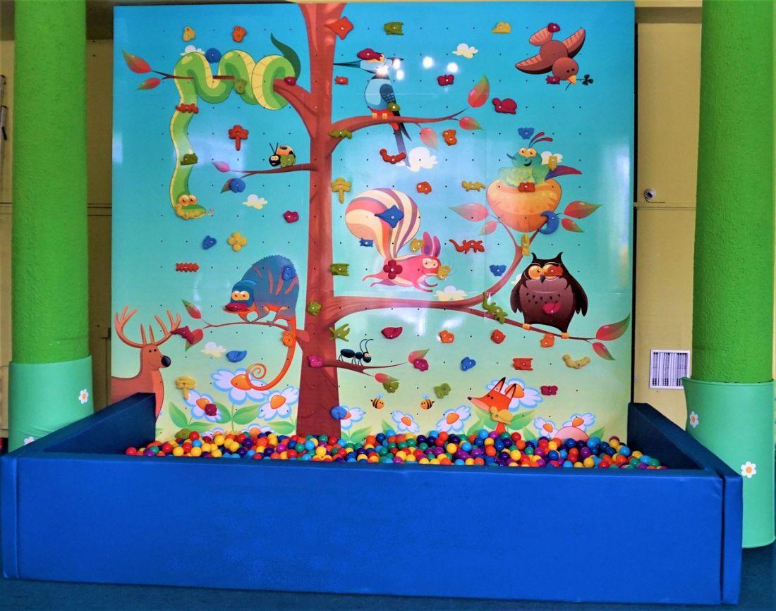 """Игровая зона """"Скалодром"""" с сухим бассейном + 4000 шариков"""