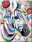 Картина по номерам "Красочная зебра"