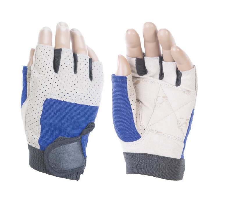 Перчатки атлетические INDIGO IR 97836 (кожа, полиэстер, спандекс)