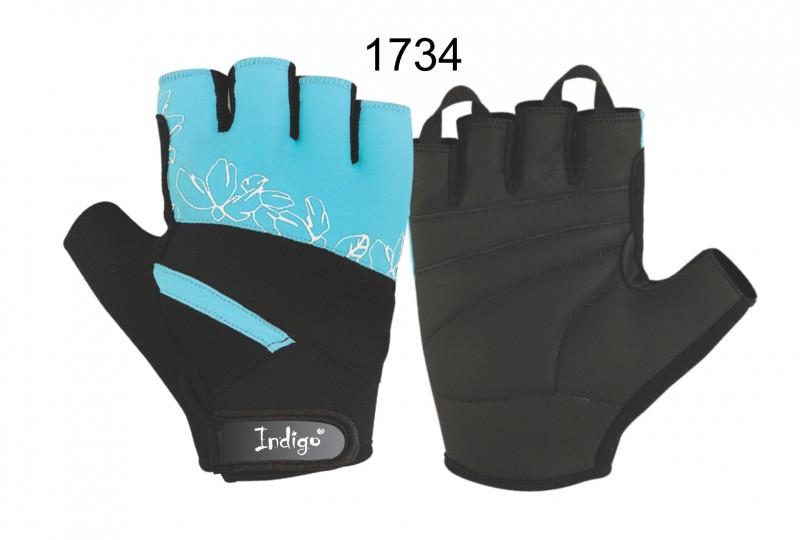 Перчатки атлетические женские INDIGO SB-16-1734 (лайкра, полиуретан)