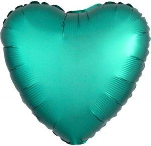 Сердце Нефритовое (Сатин) шар фольгированный с гелием
