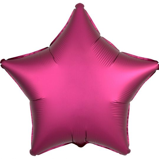 Звезда Гранат (Сатин) шар фольгированный с гелием