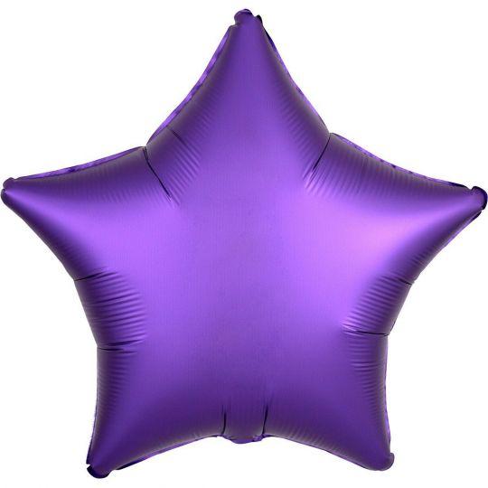 Звезда Пурпур (Сатин) шар фольгированный с гелием