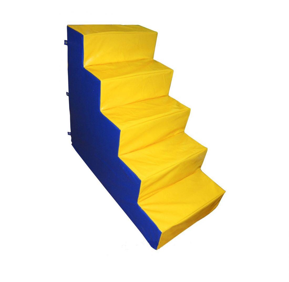 Мягкая лестница сухого бассейна, дерев.каркас, h 1,2м