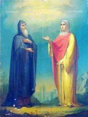 Икона Александр и Капитолина Каппадокийские (копия старинной)