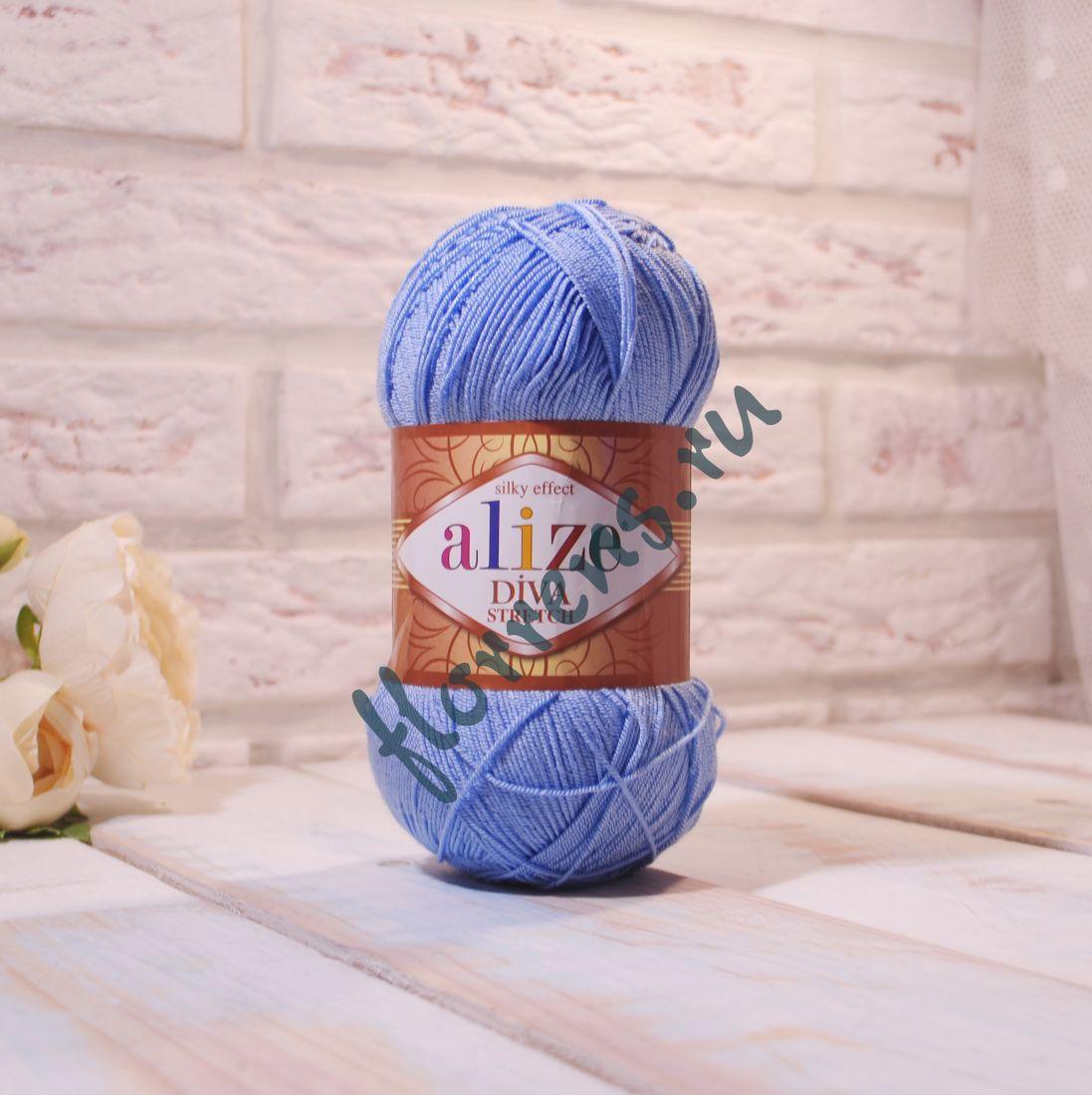 Пряжа Alize Diva Stretch / 350 бледно-голубой