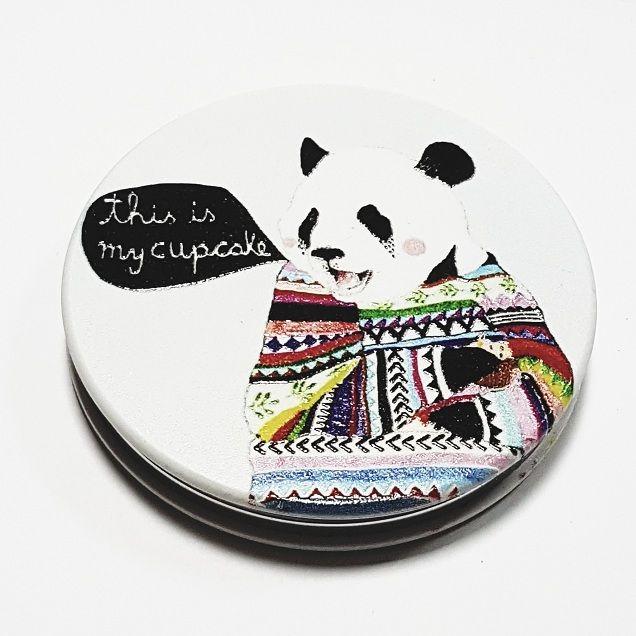 """Зеркальце карманное """"Панда"""""""