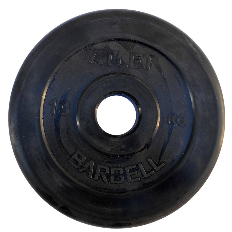 Диски обрезиненные, чёрного цвета, 51 мм, Atlet MB-AtletB50-10