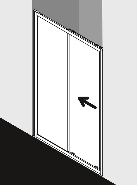 Душевая дверь Kermi Atea для ниши AT D2D ФОТО
