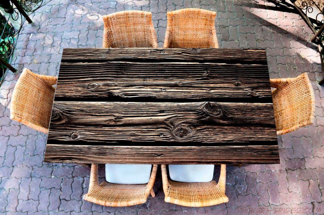 Наклейка на стол - wood 2