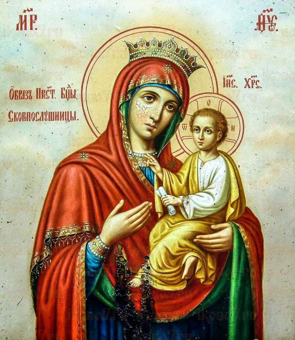 Икона Скоропослушница икона Божией Матери (копия старинной)