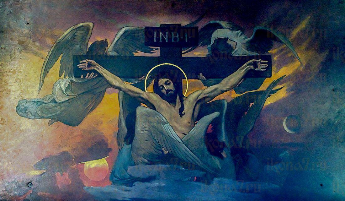 Икона Распятие Христа (копия старинной)