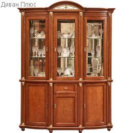 Шкаф с витриной Валенсия 3з П244.11