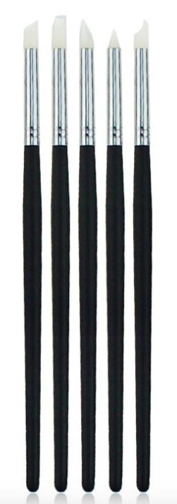 Набор 5 штук Кисти силиконовые для ногтей