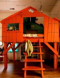 Кровать-чердак №78 Wood