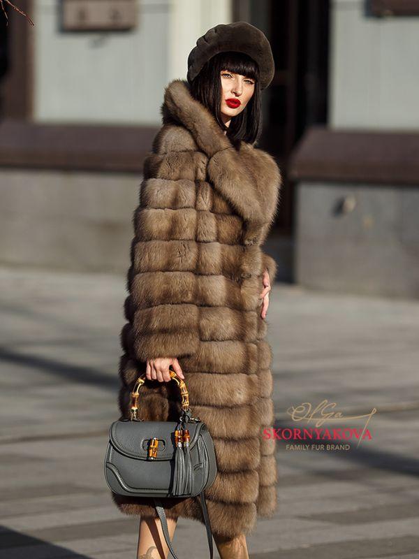 Шуба из куницы тор-тор купить в Москве
