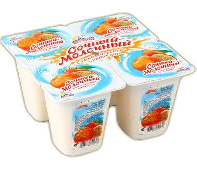 Йогурт Альпенгурт Сочный-молочный 1,2% абрикос 95г