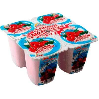 Йогурт Альпенгурт Сочный-молочный 1,2% вишня 95г
