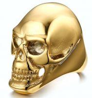 Перстень Золотой Череп