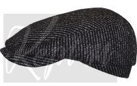 Кепка шерстяная реглан (черно-белый рубчик)