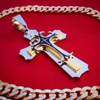Мужской кулон крест Steel Rage