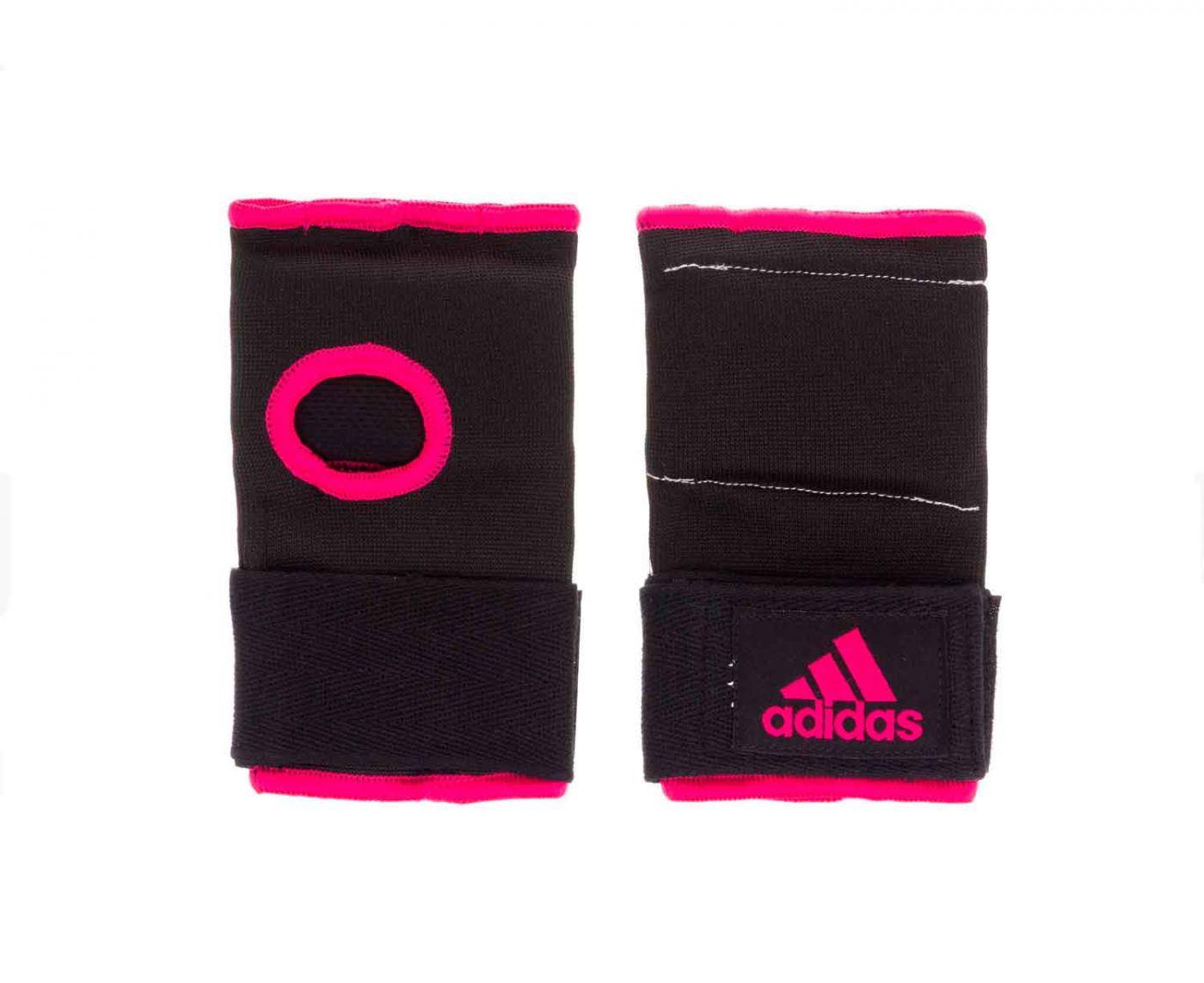 Внутренние перчатки Adidas Super Inner Gloves Gel Knuckle черно-розовые р. M. артикул adiBP021