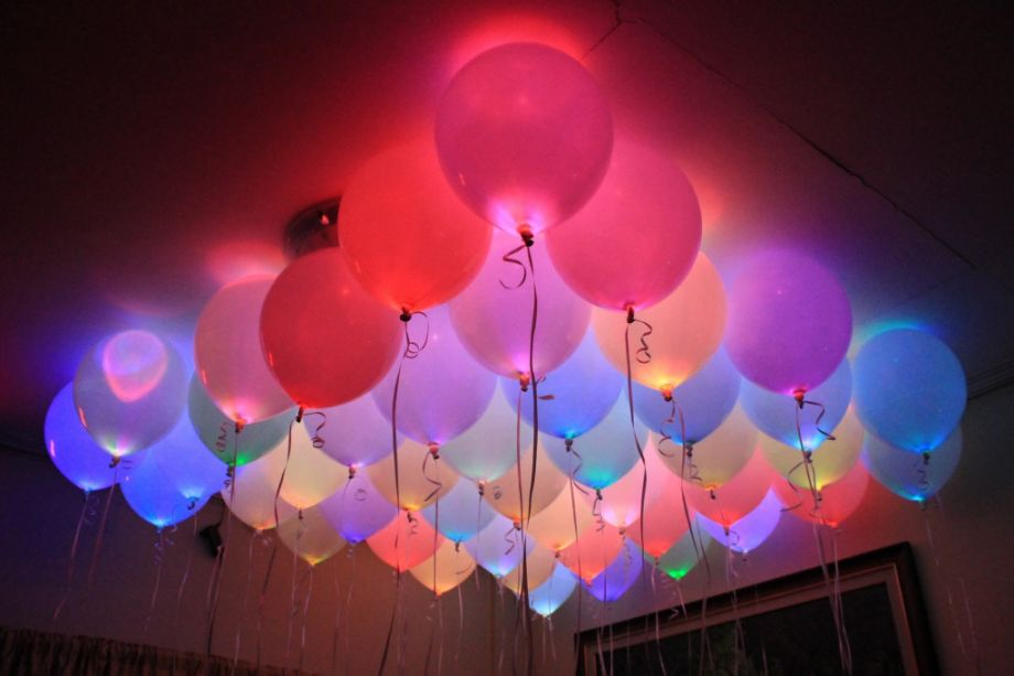 Светящиеся Воздушные Шарики, 5 шт