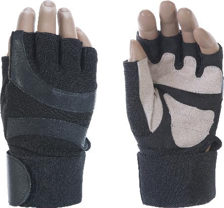 Перчатки тяжелоатлетические INDIGO 97838 (микрофибра, полиэстер)