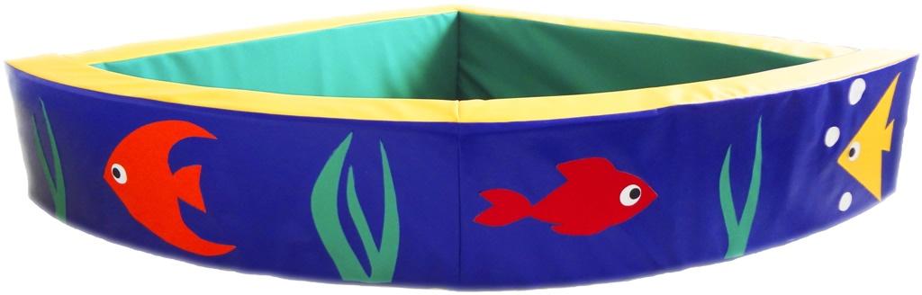 """Сухой бассейн угловой """"Аквариумные рыбки"""""""