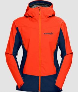 NORRONA Falketind Windstopper hybrid Jacket (W) HOT CHILI RED
