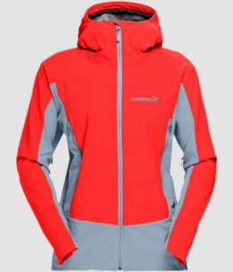 NORRONA Falketind Windstopper hybrid Jacket (W) CRIMSON KICK RED