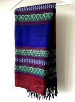 Теплая непальская шаль плед, купить в Москве, интернет магазин