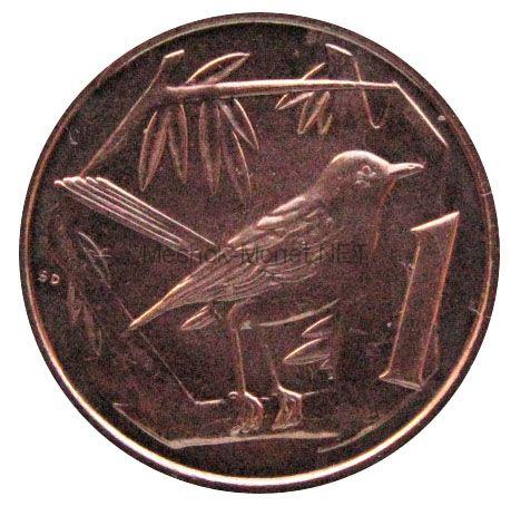 Каймановы острова 1 цент 2013 г.