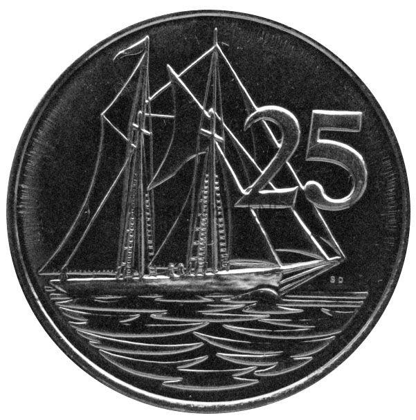 Каймановы острова 25 центов 2013 г.