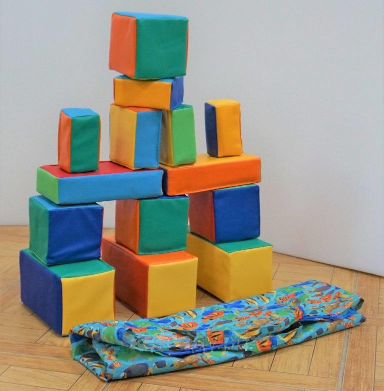 Мини-конструктор в сумке, 14 элементов. Мягконабивной, моющийся