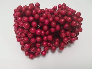 Ягоды 10 мм (длина 16см), цвет - темно-розовый. 1 уп = 400 ягодок